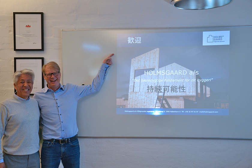 Bæredygtigt byggeri tiltrækker besøg fra Japan